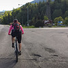And then Katrina came to meet me in Sparwood, and biked the final 36km or so back to the campground in Fernie with me (hurrah, my own domestique!) while Kate sensibly got a lift instead.  I love you Fernie welcome sign.